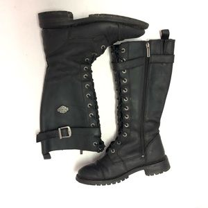 Harley Davidson Savannah Leather Tall Boots Size 9